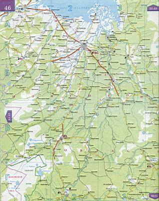 Карта новгородской области 1см 5км